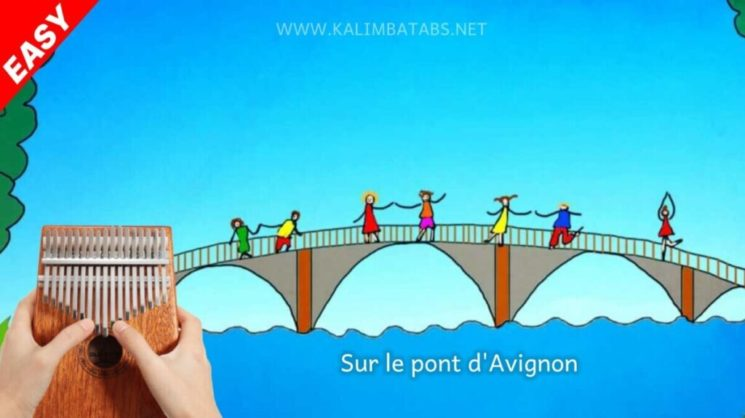 Sur Le Pont D'Avignon By Traditional French Kalimba Tabs