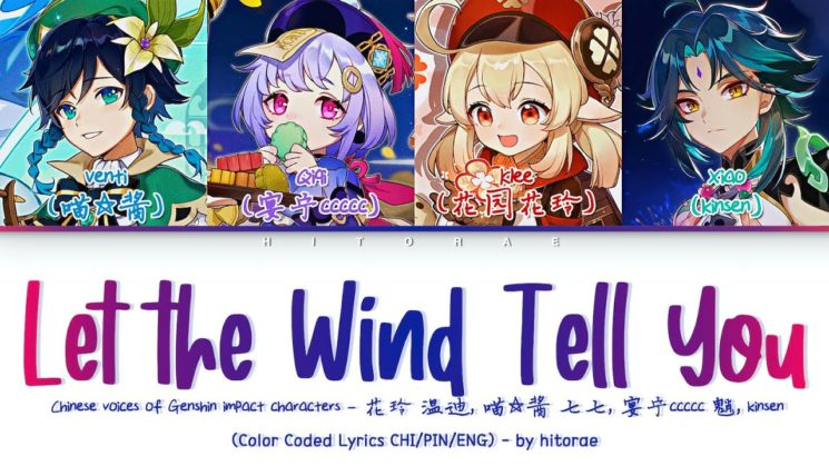 Let The Wind Tell You By Genshin Impact Fansong Kalimba Tabs