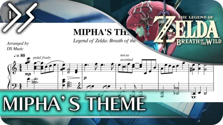 Mipha's Theme ( The legend of Zelda Breath of The Wild OST) By Nintendo Kalimba Tabs