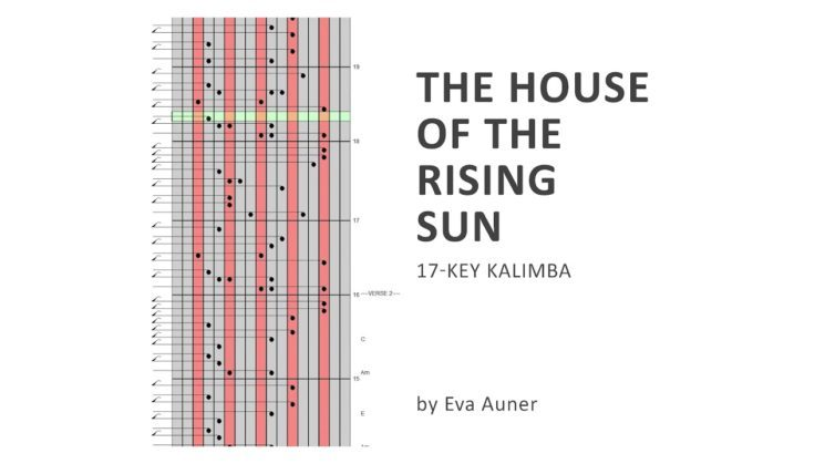 House Of The Rising Sun By The Animals Kalimba Tabs