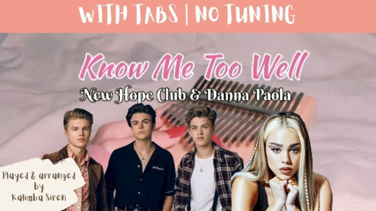 Know Me Too Well By New Hope Club, Danna Paola Kalimba Tabs
